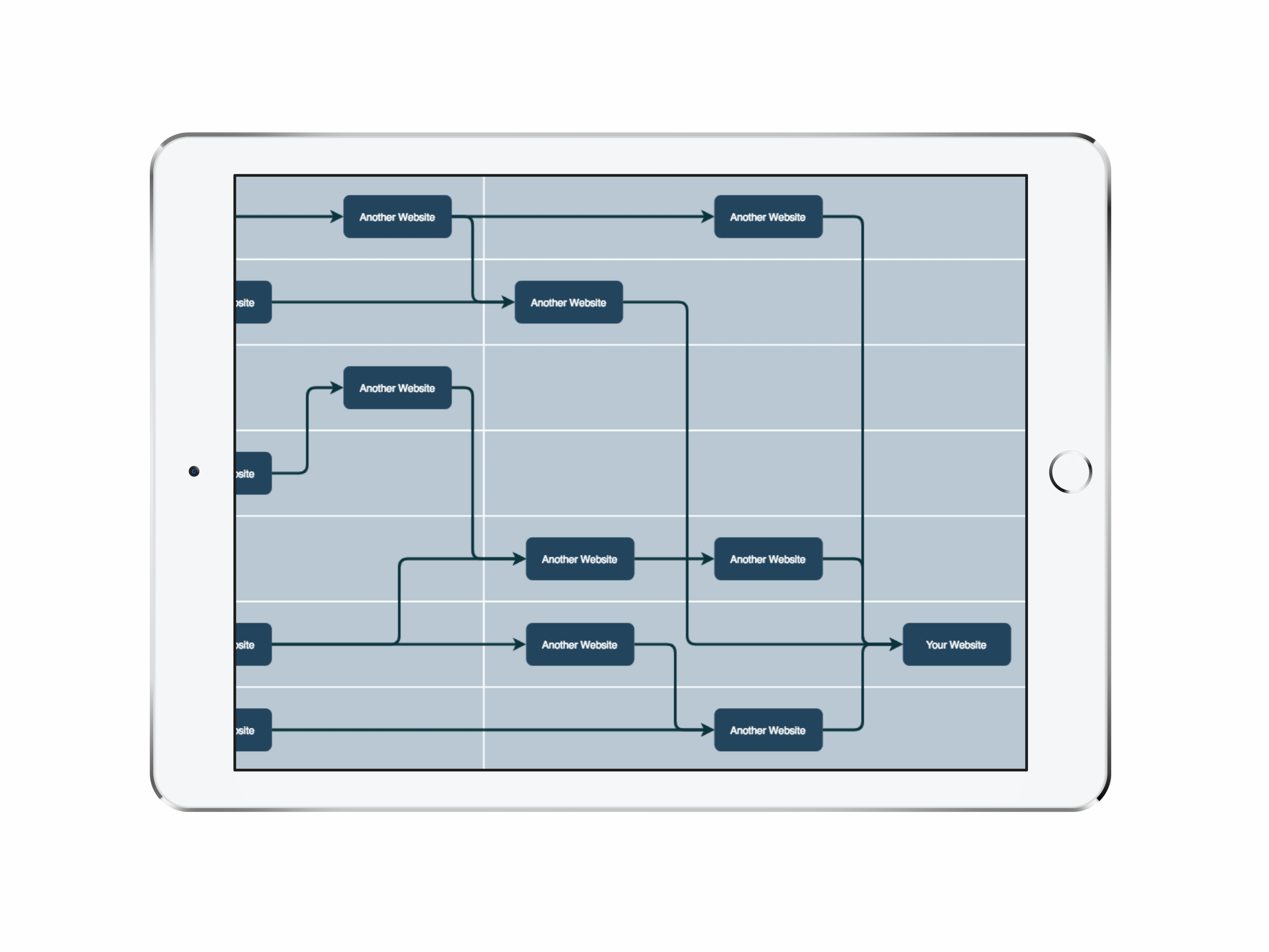Link Building Graph on an iPad